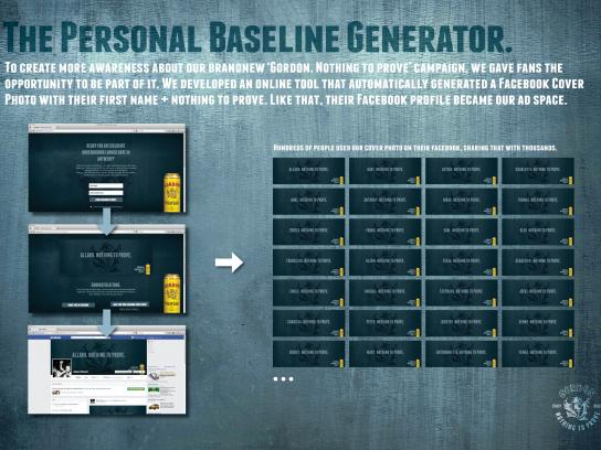 Gordon Finest Beers Digital Ad -  The personal baseline generator