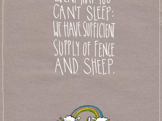 Onuku Farm Hostel Print Ad -  Sheep