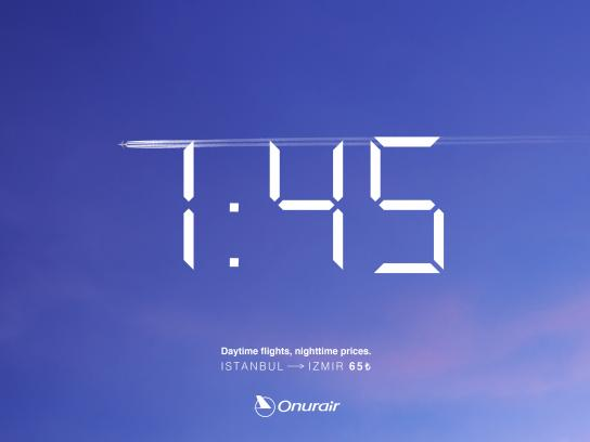 Onur Air Outdoor Ad - Flight time