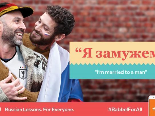 Babbel Print Ad - #BabbelforAll, 2