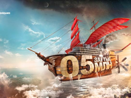Credit Bank of Moscow Outdoor Ad -  The Flying ship of a Dream
