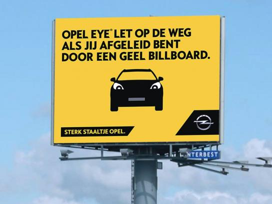 Opel Outdoor Ad - Yellow billboard