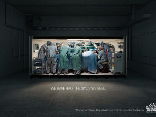 BC Children's Hospital Print Ad -  Operating room