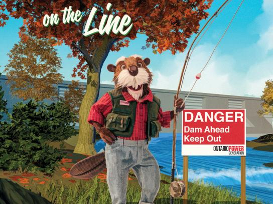 Ontario Power Generation Print Ad - Fishing
