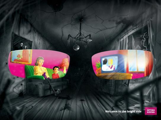 Optika Arena Print Ad -  Home