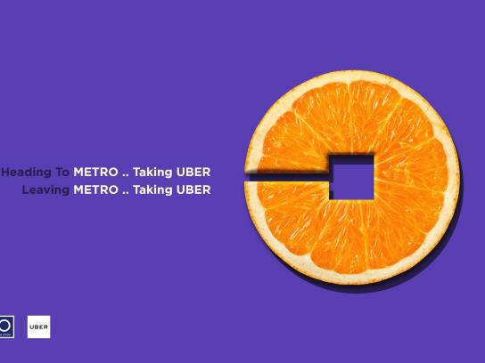 Metro Print Ad - Orange