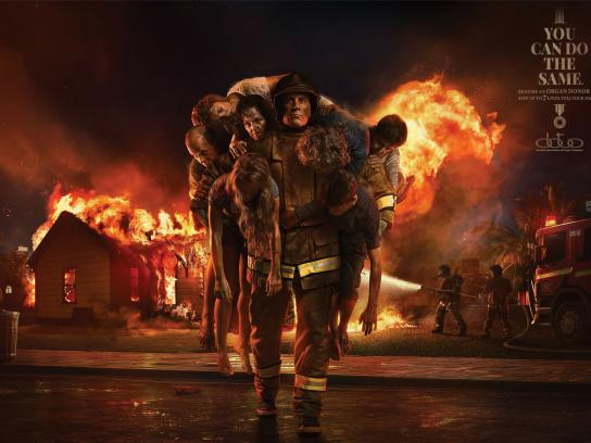 Brazilian Association of Organ Transplant Print Ad -  Firefighter