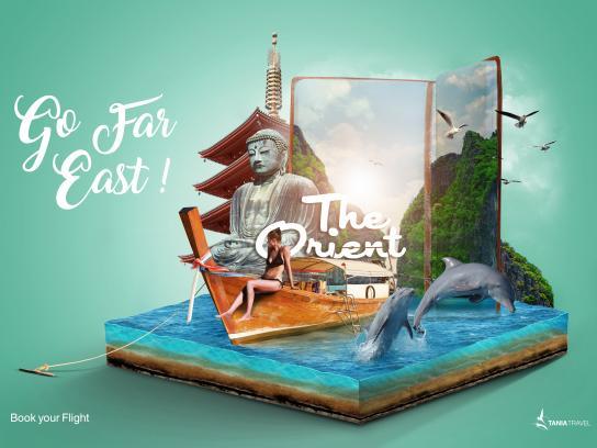 Tania Travel Print Ad - Orient