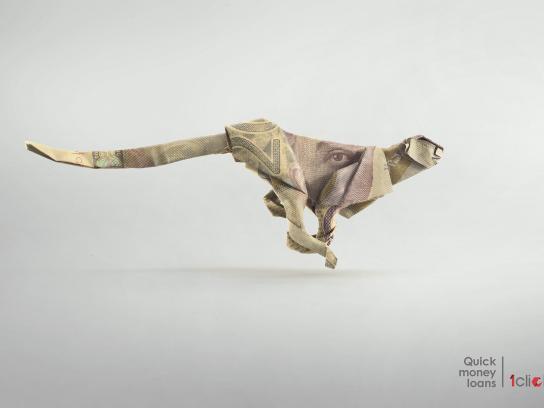 1click.ge Print Ad - Cheetah