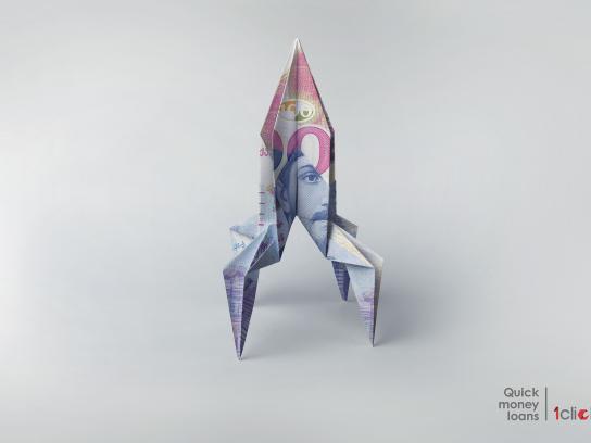 1click.ge Print Ad - Rocket