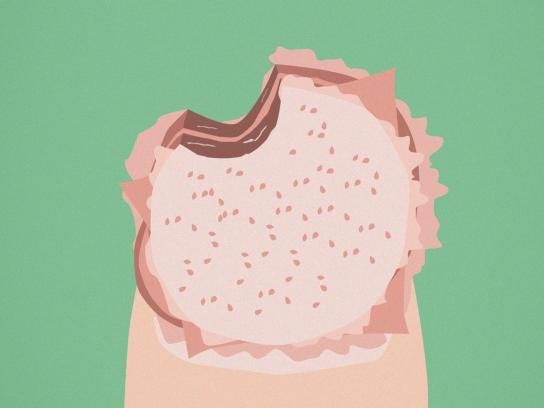 Orly Beauty Print Ad - Satisfying Taste, Burger