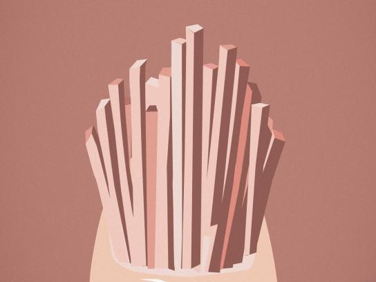 Orly Beauty Print Ad - Satisfying Taste, Fries