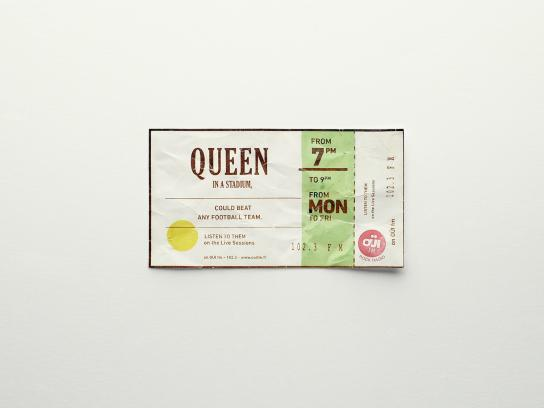 Oui FM Outdoor Ad -  Tickets, 3