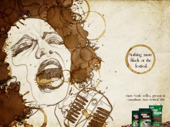 Café Ouro Verde Print Ad -  Black Festival, 1