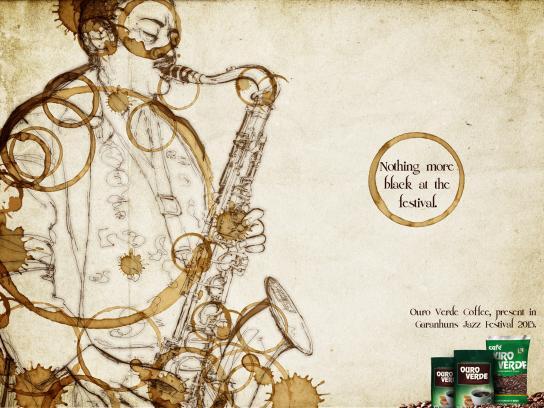 Café Ouro Verde Print Ad -  Black Festival, 2