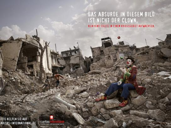 Caritas Print Ad - Out of Place - Clown