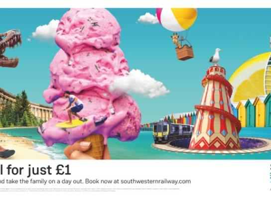 South Western Railway Print Ad - Live Big