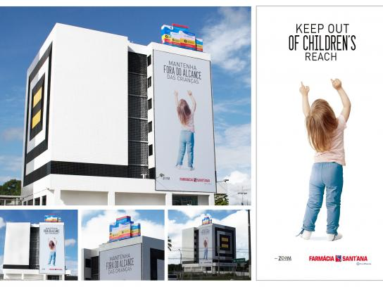 Santa'Ana Outdoor Ad -  Keep out of children's reach