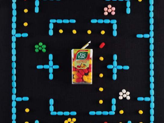 Tic Tac Print Ad -  Pacman