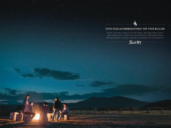 Wyoming Office of Tourism Print Ad -  Four-star