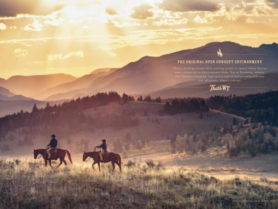 Wyoming Office of Tourism Print Ad -  Open concept