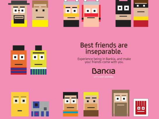 Bankia Print Ad - Best friends