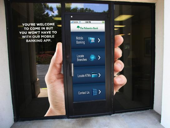 The Palmetto Bank Outdoor Ad -  Smart phone
