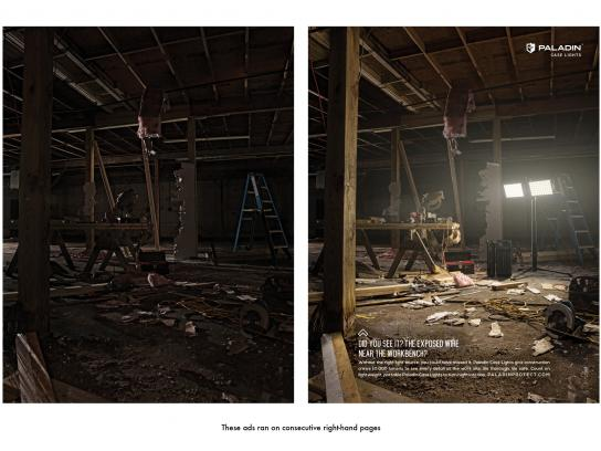 Paladin Case Lights Print Ad -  Contractor
