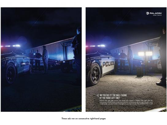 Paladin Case Lights Print Ad -  Police