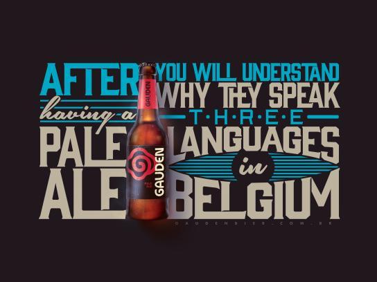 Gauden Bier Print Ad - Pale Ale