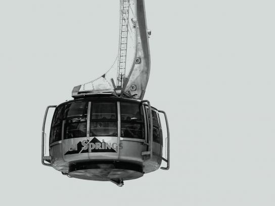 JetBlue Outdoor Ad - Aerial tramway