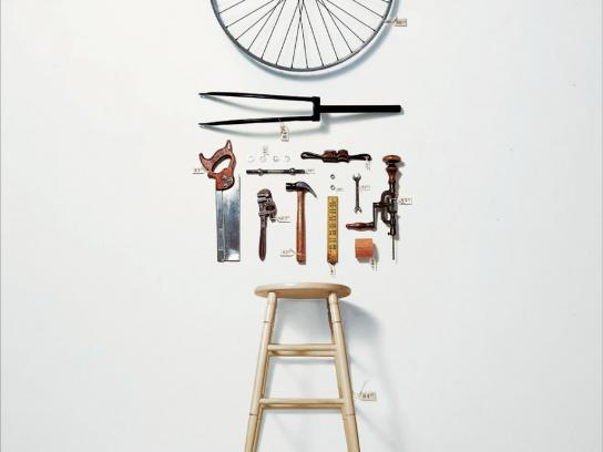 Panamericana School of Art and Design Print Ad -  Bicycle Wheel