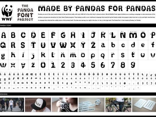 WWF Direct Ad -  The panda font