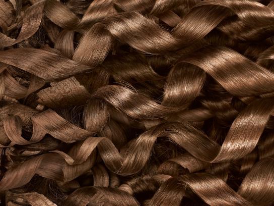 Pantene Print Ad -  Wooden Curls