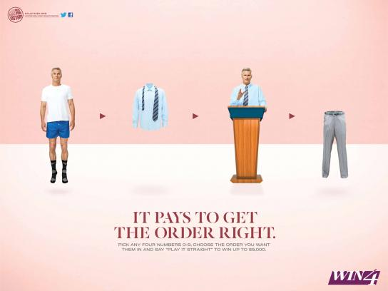 New York Lottery Print Ad -  Pants