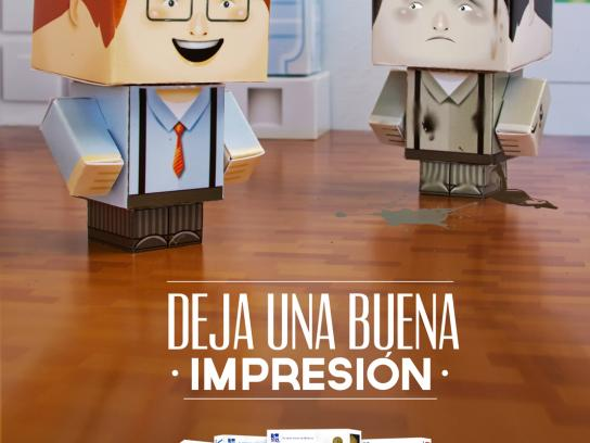 Copamex Print Ad -  Paper Toys, Office