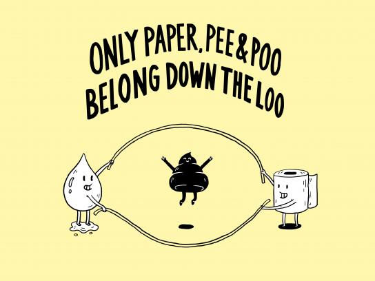 Marine Conservation Society Print Ad - Paper Pee Poo
