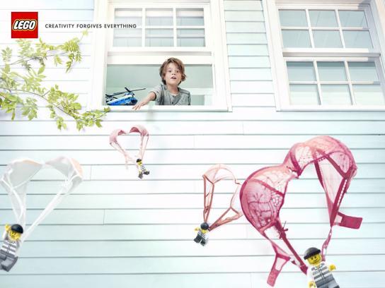 Lego Print Ad -  Parachutes