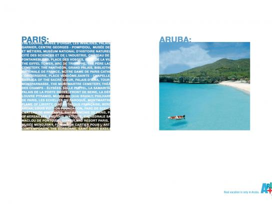 Aruba Tourism Authority Print Ad -  Real vacation - Paris