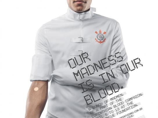 Sangue Corinthiano Print Ad -  Our madness is in our blood, Paulinho