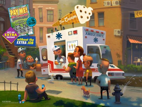 New York Lottery Print Ad -  Ambulance