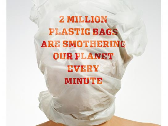 Plastic Bag Free World Print Ad - Minute