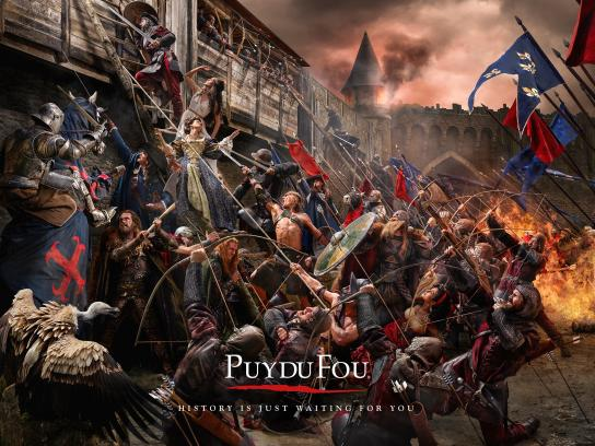 Puy du Fou Print Ad -  Painting, 1