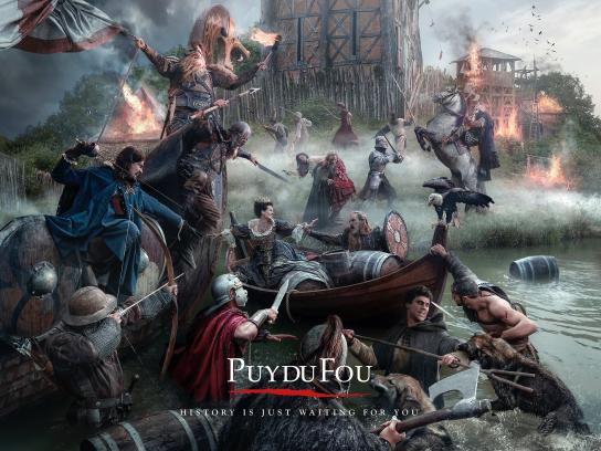 Puy du Fou Print Ad -  Painting, 3