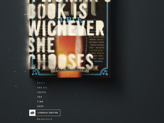 Livrarias Curitiba Print Ad - Beer book