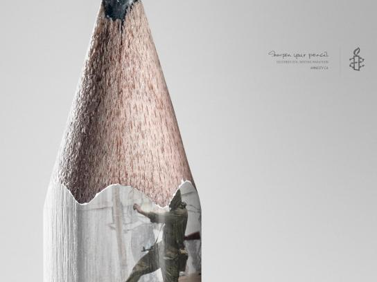 Amnesty International Print Ad -  Pencil, 2