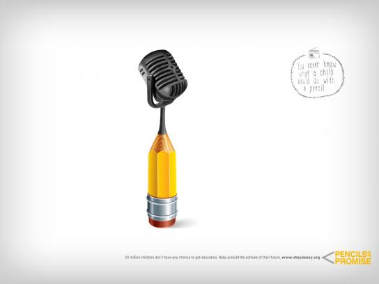 Pencils of Promise Print Ad -  Pencil, 1