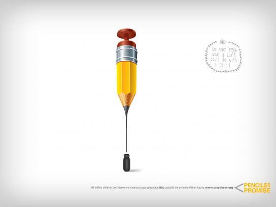 Pencils of Promise Print Ad -  Pencil, 2
