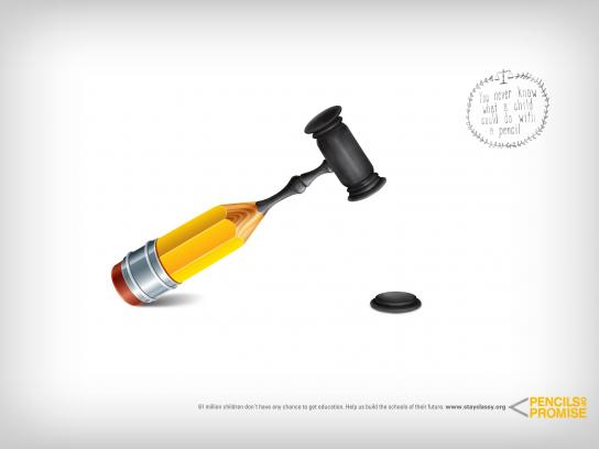 Pencils of Promise Print Ad -  Pencil, 3