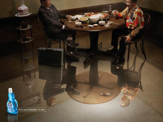 Penguin Multi Surface Floor Cleaner Print Ad -  Payoff